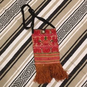 Vintage ethnic cross-body bag. Hand Embroidered🤚